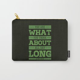 Lab No. 4 You Are What You Think Dr. Robert Schuller Life Inspirational Quote Carry-All Pouch
