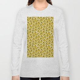 Sunny Melon love abstract brush paint strokes yellow ochre Long Sleeve T-shirt
