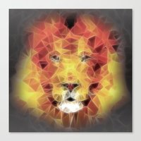 the lion king Canvas Prints featuring lion king by Ancello