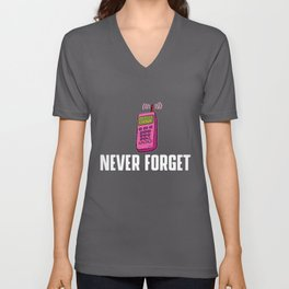Never forget - VHS, floppy disk, CD Unisex V-Neck
