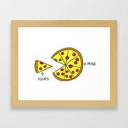 My Pizza, My Rules Framed Art Print