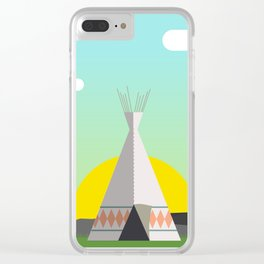 Tee-Pee Time Clear iPhone Case