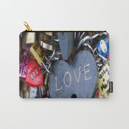love, red, black, macro, close up, love locks, paris, Carry-All Pouch