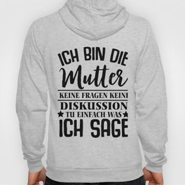mother children obedience mother's day funny gift Hoody