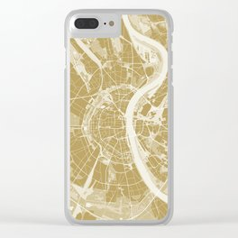 Cologne map gold Clear iPhone Case