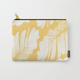 Yellow Banana Leaves Dream #1 #tropical #decor #art #society6 Carry-All Pouch