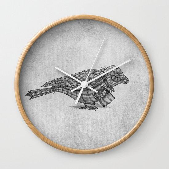 Clockwork Bird  Wall Clock