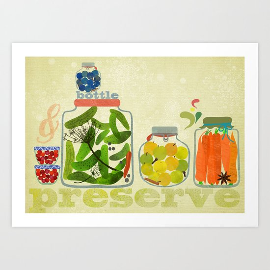 bottle & preserve Art Print