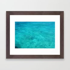 Clear Turquoise Water Framed Art Print