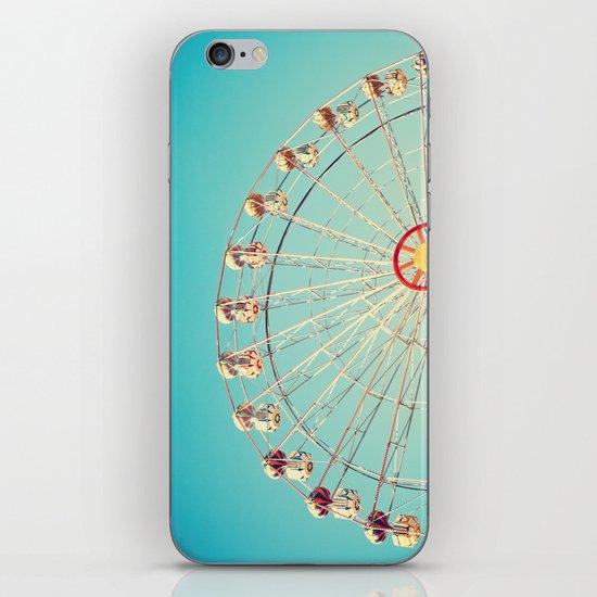 Daydream, Ferris Wheel on Blue Sky  iPhone & iPod Skin