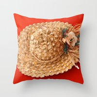 hat Throw Pillows featuring Hat  by Gaspar Avila