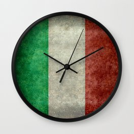 Flag of Italy, Vintage Retro Style Wall Clock