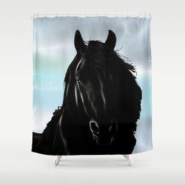 Friesian horse Shower Curtain