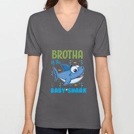 BROTHA of the Baby-Shark Unisex V-Neck
