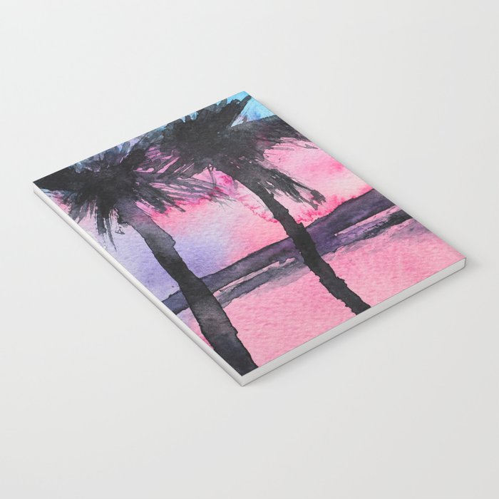 Tropical sunset    watercolor Notebook