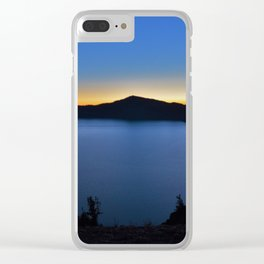 The Golden Hour is upon Crate Lake. Clear iPhone Case