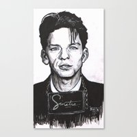 frank sinatra Canvas Prints featuring Sinatra by R.E.V. Illustrations