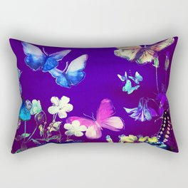 Night Butterflies Rectangular Pillow
