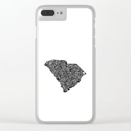 Typographic South Carolina Clear iPhone Case