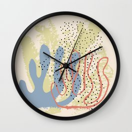 Hand drawn vector design Wall Clock