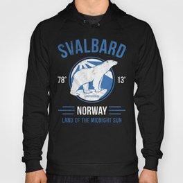 Svalbard Arctic Polar Bear - Midnight Sun in Longyearbyen Norway Hoody