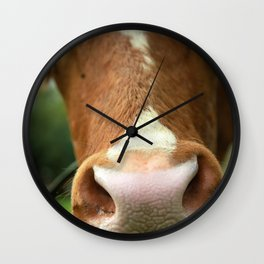Cow, meadow, animal Wall Clock