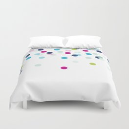 CUTE CONFETTI SPOTS - bright colorful - pink, aqua blue, mint, navy Duvet Cover