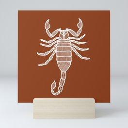 Terracotta Scorpion Mini Art Print