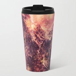 Galaxy Mountains : Mauve Burgundy Travel Mug