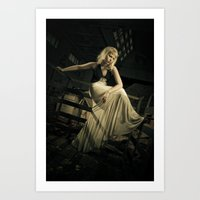 noir Art Prints featuring Noir by Reagan Lam