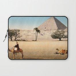 Vintage Pyramid : Grand Pyramid Gizeh Egypt 1895 Laptop Sleeve
