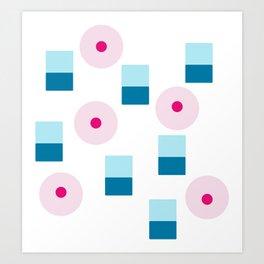 Boy Girl Pattern Art Print