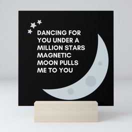 magnetic moon Mini Art Print