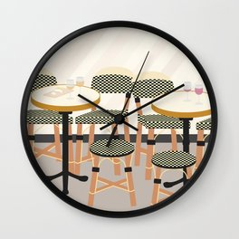 Paris Cafe Chairs | France Wall Clock