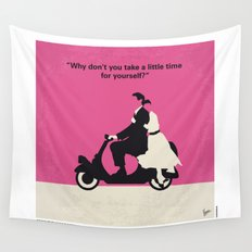 No205 My Roman Holiday minimal movie poster Wall Tapestry