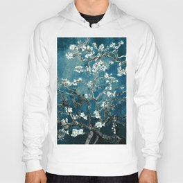 Van Gogh Almond Blossoms : Dark Teal Hoody