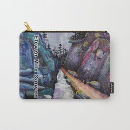 Eleven MiIe Canyon with text Carry-All Pouch
