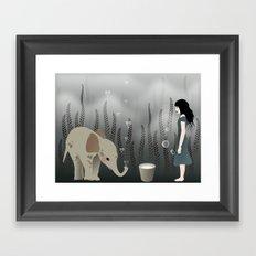 elephant in lo♥e Framed Art Print