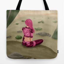 Tragedy gazing upon the desert Tote Bag