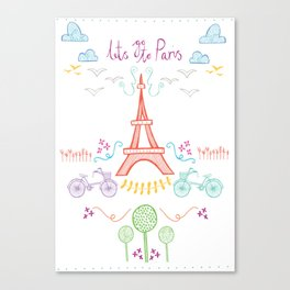 With love from Paris Canvas Print