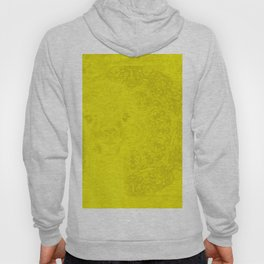 Ghostly buttercup yellow alpaca and mandala Hoody