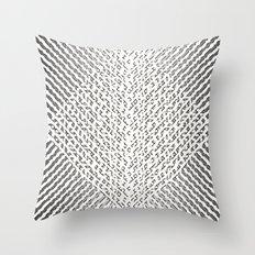 Stripes In Black & White Throw Pillow