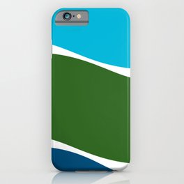 Turquoise Basil Cerulean Waves iPhone Case