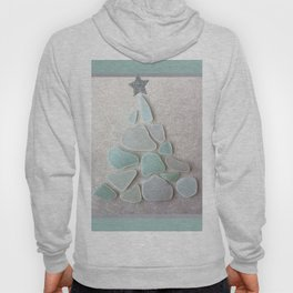 Sea Foam Sea Glass Christmas Tree #Christmas #seaglass Hoody