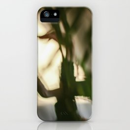 Dancing people, dance, shadows, hands and plants, blurred photography, dancer, forest, yoga iPhone Case