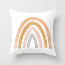 Boho rainbow Throw Pillow