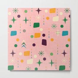 Atomic Pattern Pink Green  #midcenturymodern Metal Print