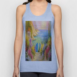 Road to the sea Unisex Tank Top