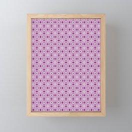 Violet Lace Swirls Framed Mini Art Print