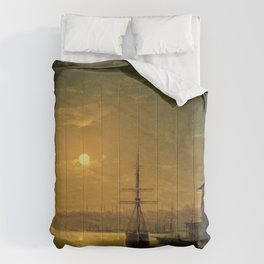 Constantinople (Istanbul) by Moonlight by Ivan Aivazovsky Comforters
